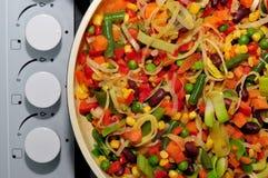 Kitchen, salad, food Stock Image