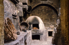 Kitchen in Santa Catalina Monastery Royalty Free Stock Images