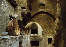 Kitchen in Santa Catalina Monastery in Arequipa Royalty Free Stock Image