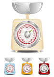 Kitchen Scale. Retro Kitchen Scale Illustration (Global Swatches Included Stock Photo