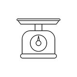 Kitchen scale balance Royalty Free Stock Image