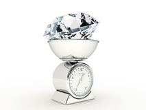 Kitchen scale with giant diamond Stock Photography