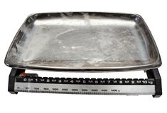 Kitchen Scale w/ Path. Old kitchen scale used by my grandma. File contains clipping path stock photo
