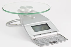 Kitchen scales Royalty Free Stock Image