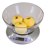 Kitchen scales with Apples Stock Photography