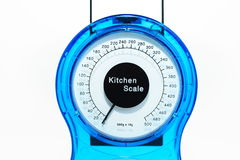 Kitchen scales detail royalty free stock photo