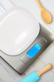 Kitchen scales Royalty Free Stock Photography