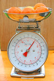 Kitchen scales with fruit Stock Photography