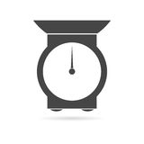 Kitchen scales icon. Vector icon Royalty Free Stock Images