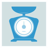 Kitchen scales icon Royalty Free Stock Images