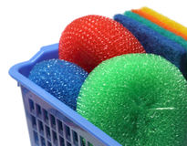 Kitchen Scrubber on a basket Stock Photo