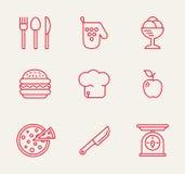 Kitchen seamless pattern. Cookery kitchen icon bast set Stock Photography