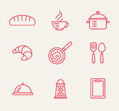 Kitchen seamless pattern Stock Photos