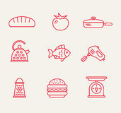 Kitchen seamless pattern Royalty Free Stock Images