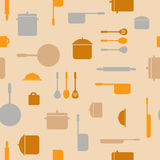 Kitchen seamless pattern Stock Image