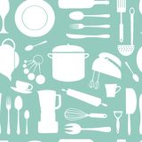 Kitchen seamless pattern Royalty Free Stock Photography