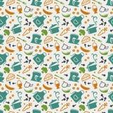 Kitchen seamless pattern. Vector background. Stock Photos