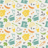 Kitchen seamless pattern. Vector background. Stock Photography