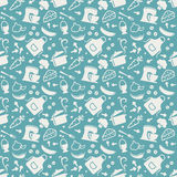Kitchen seamless pattern. Vector background. Royalty Free Stock Image
