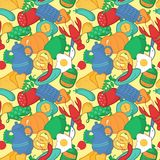 Kitchen seamless pattern, vector illustration in Stock Image