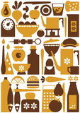Kitchen seamless Royalty Free Stock Images