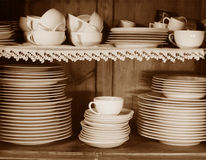 Kitchen set. Kitchen shelf with different accessoires Royalty Free Stock Photography