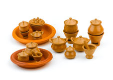 Kitchen set children clay toys Stock Images