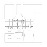 Kitchen set coloring page template Royalty Free Stock Photos