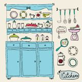 Kitchen set in . Design elements of kitchen. Royalty Free Stock Photography