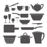 Kitchen set icon. Stock Photos
