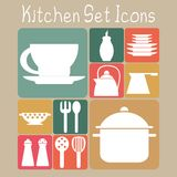 Kitchen Set Icons Stock Image