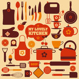 Kitchen set icons Royalty Free Stock Image