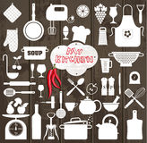 Kitchen set icons Royalty Free Stock Images
