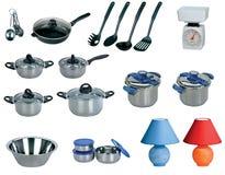 Kitchen set isolated on white background Stock Images