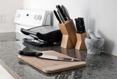 Kitchen set ona granite counter counter Stock Image