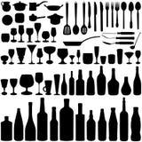 Kitchen set vector royalty free illustration
