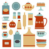 Kitchen set Royalty Free Stock Photos