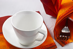 Kitchen setting with cup. Detail of kitchen setting with cup Royalty Free Stock Images