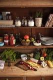 Kitchen shelf Royalty Free Stock Photo
