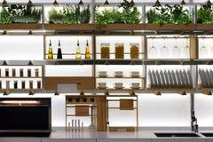 Kitchen shelves Stock Photos