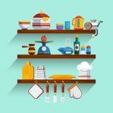 Kitchen Shelves Set Royalty Free Stock Photos