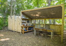 Kitchen and Shower Facilities at a Camp Royalty Free Stock Image