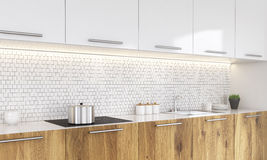 Kitchen sideview Royalty Free Stock Images