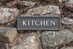 Kitchen Sign Plate Stock Photos