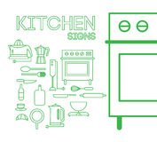 Kitchen signs Royalty Free Stock Photos