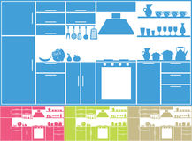 Kitchen silhouette Royalty Free Stock Photos