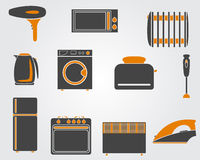 Kitchen simple icons Royalty Free Stock Photo