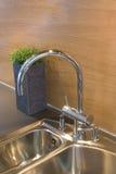 Kitchen sink. A modern stylish kitchen sink Royalty Free Stock Photos