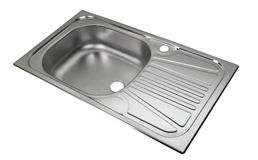 Kitchen sink. File includes clipping path Royalty Free Stock Photo