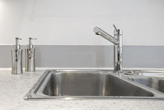 Kitchen sink deatil Stock Images